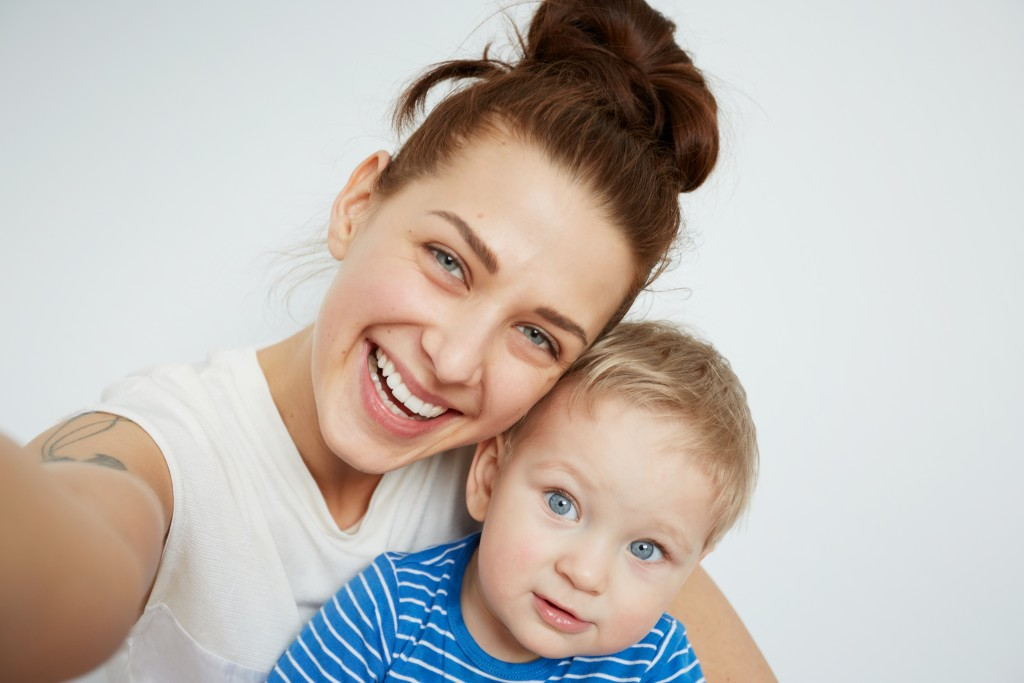 Young woman and toddler